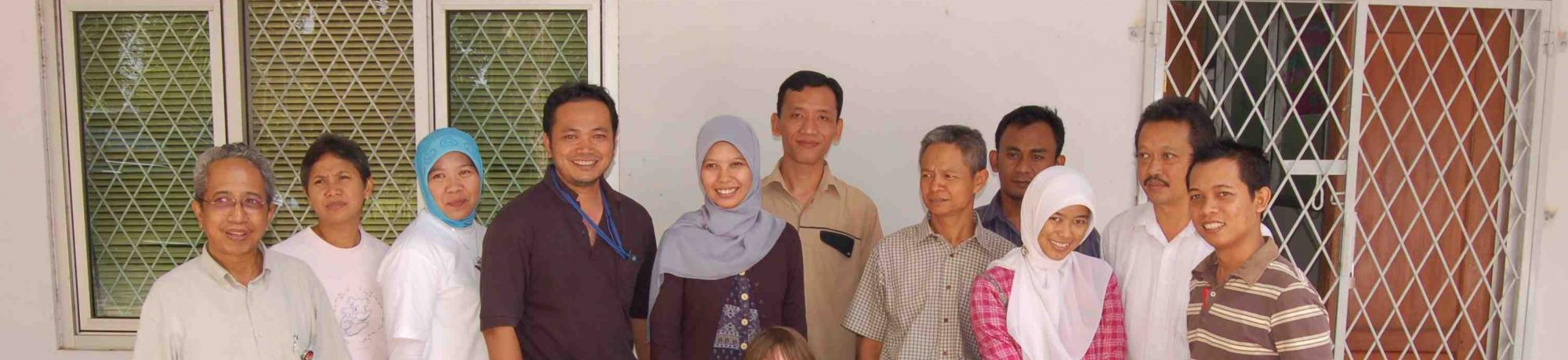 The AP2 team at FORDA, Ministry of Forestry, Bogor, Indonesia in 2009.